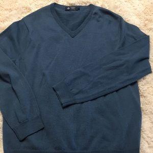 J Crew Blue Lightweight Merino Wool Sweater